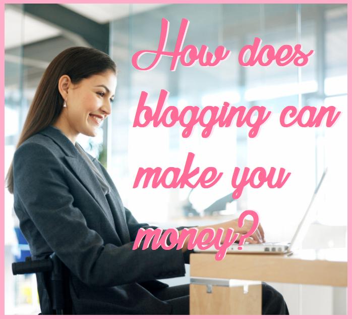 Blogging lady
